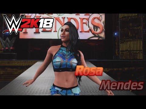 WWE 2K18- Rosa Mendes Entrance (CAW)