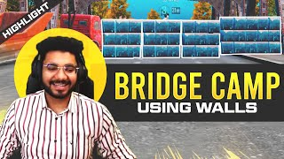 BRIDGE CAMP USING WALL ABILITY! 😱😂 || PUBG MOBILE NEW UPDATE FUNNY HIGHLIGHT! 🤩 || H¥DRA | ALPHA