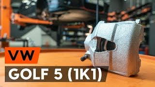 How to change front brake caliper on VW GOLF 5 (1K1) [TUTORIAL AUTODOC]