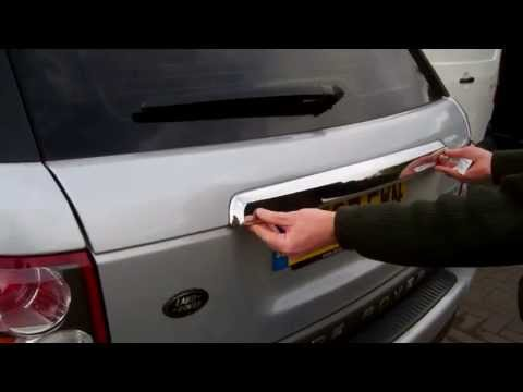 How To Fit A Rear Tailgate Trim To A Range Rover Sport 2005 - 2009