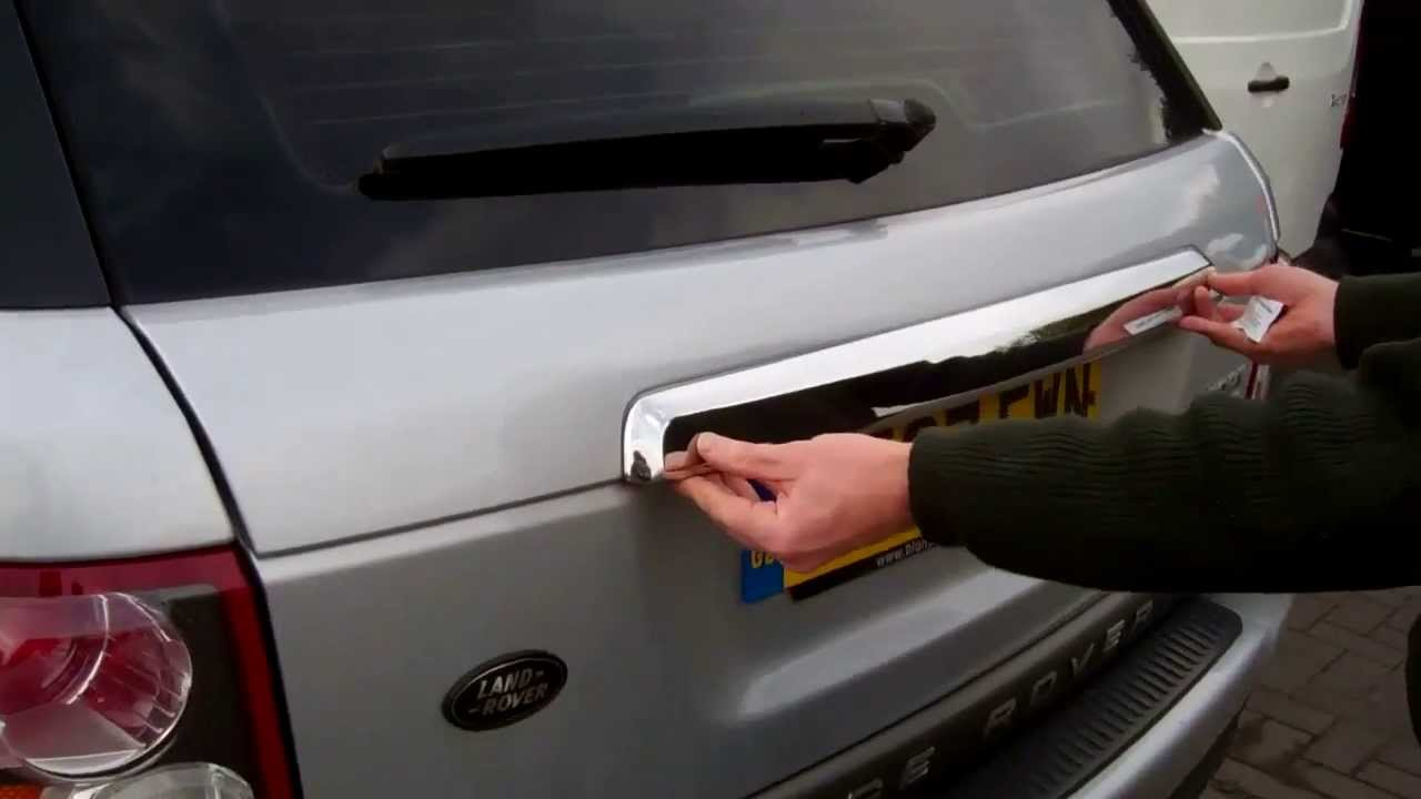How To Fit A Rear Tailgate Trim To A Range Rover Sport