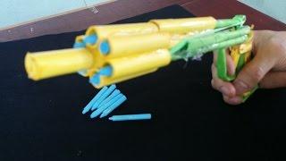 Tetik ile 6 Bullets çeker Kağıt Gun nasıl yapılır