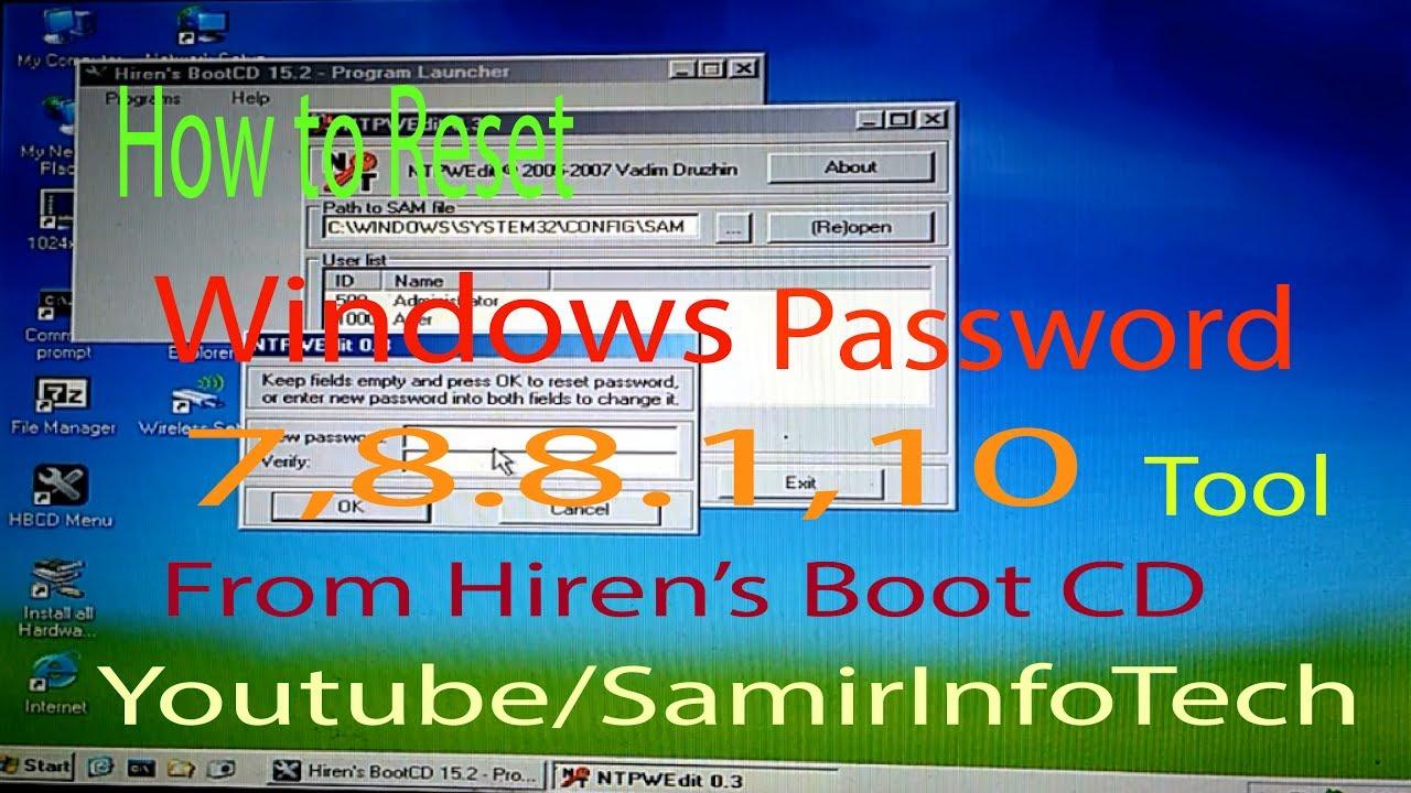 windows 10 boot password reset