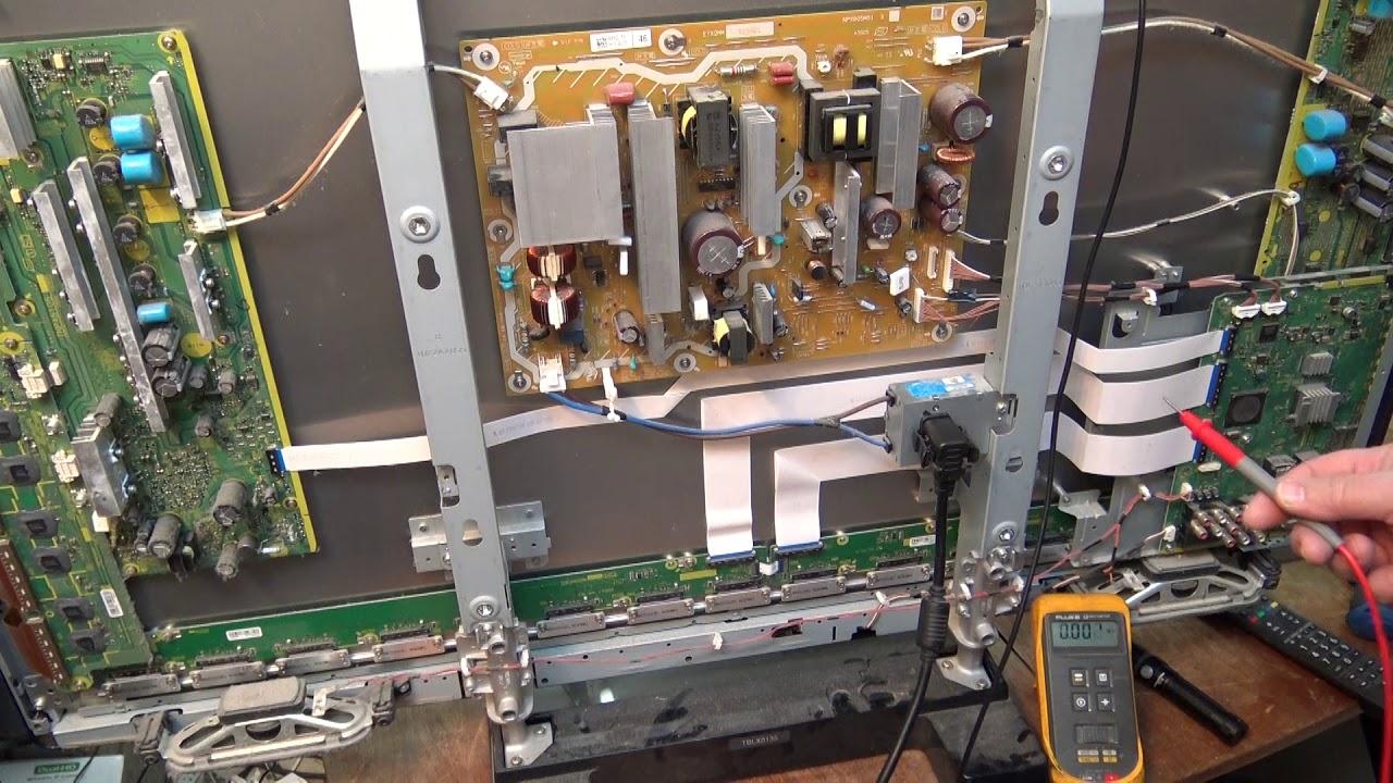 Panasonic tc46s2 plasma 10 blink shut down component level repair