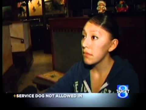 Restaurant ordered service dog to lobby