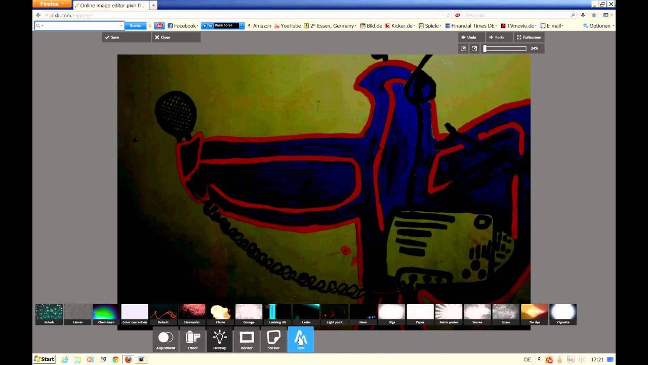 Bilder online bearbeiten mit PIXLR - Videotutorial - YouTube