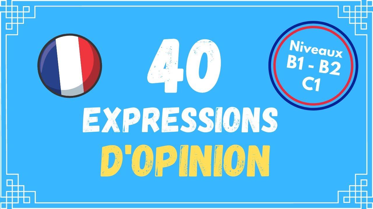 Download 40 manières d'exprimer l'opinion en français | Niveau B1 - B2 - C1