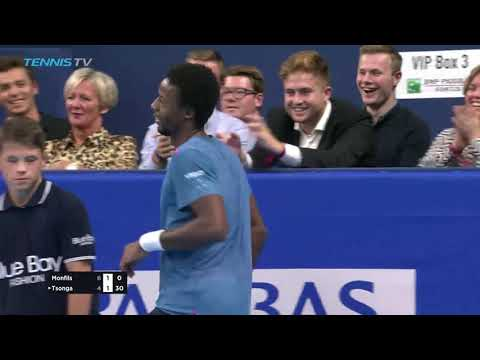 Hot Shot: Gael Monfils' Leaping Tweener Antwerp 2018
