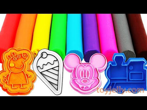 Thumbnail: Learn Colors Play Doh Modeling Clay Peppa Pig Popsicle Ice Cream Elephant Colour Foam Surprise Toys