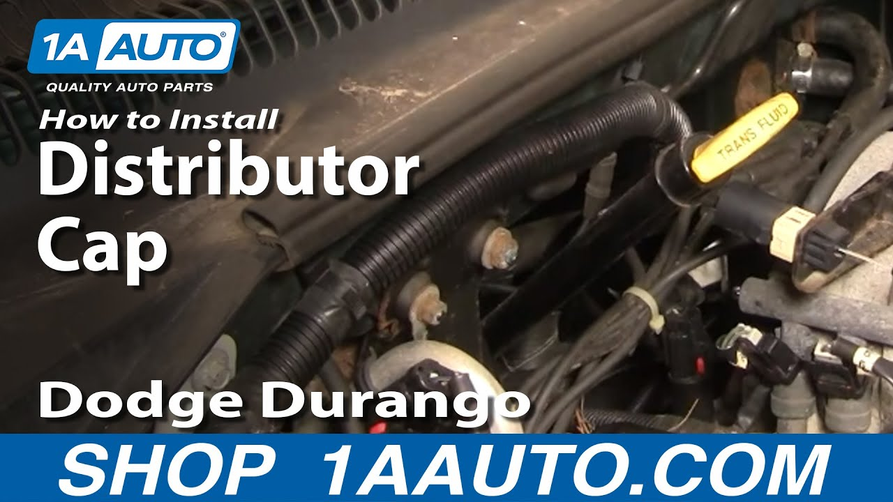 how to install replace distributor cap rotor dodge dakota durango rh youtube com 1994 Dodge Dakota Wiring Diagram 2004 Dodge Dakota Wiring Diagram