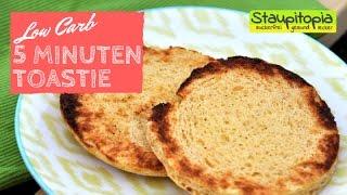 Low Carb Toasties in nur 5 Minuten! Das schnellste Low Carb Brot perfekt für dein Low Carb Frühstück