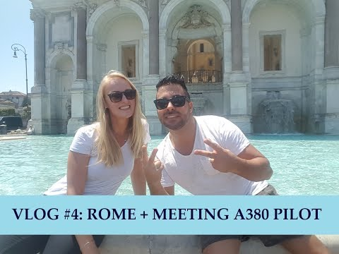Pilot Lindy VLOG #4: Rome + Meeting A380 pilot