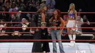 Edge WWE champion with Lita Women