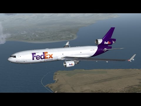 FSX | PMDG MD-11 | Full ILS Landing | Ted Stevens Anchorage International Airport (PANC)