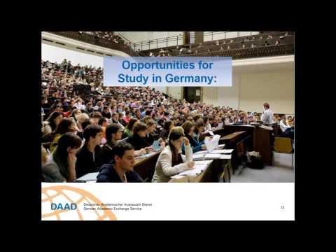 Webinar  DAAD Undergraduate  Graduate Funding 2017 18