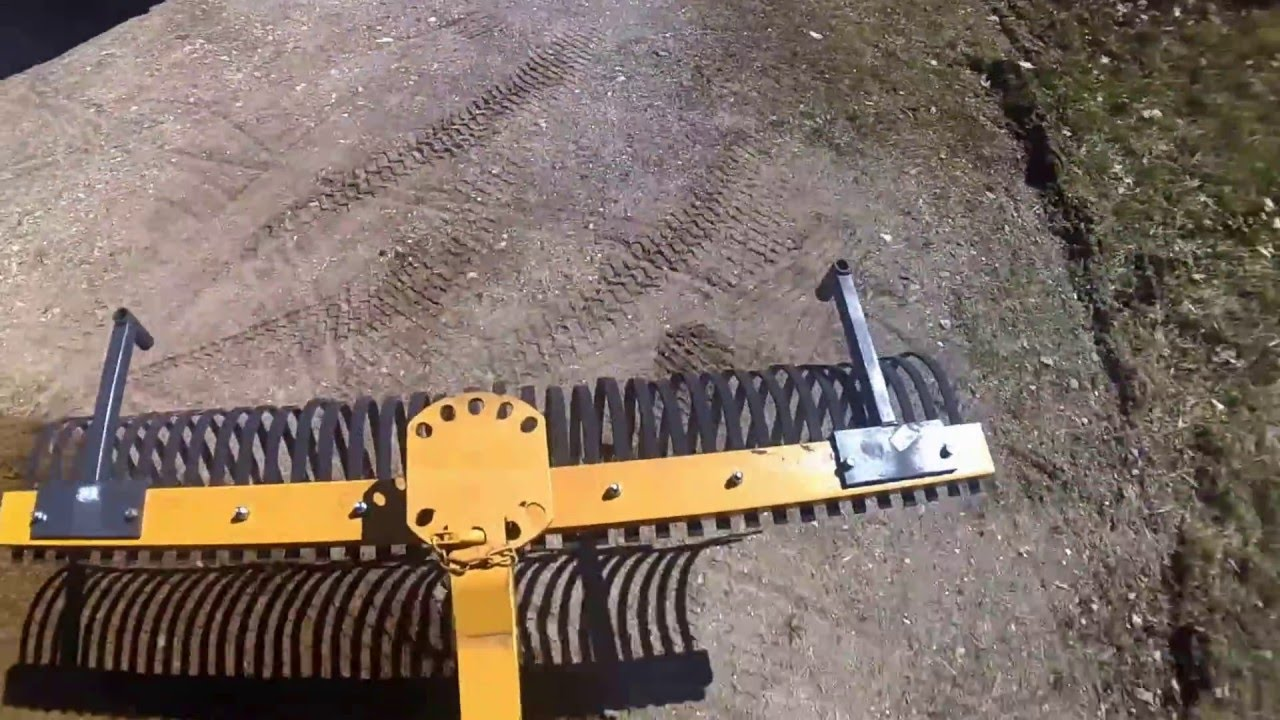 POV Video of Tractor Supply 6' Landscape Rake in Driveway Using the John  Deere 2032R Tractor - YouTube - POV Video Of Tractor Supply 6' Landscape Rake In Driveway Using The