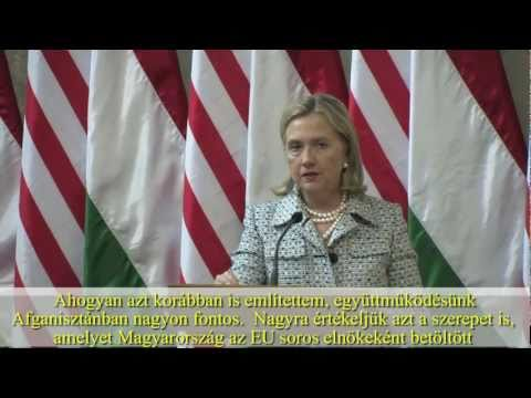 Press conference with Sec. Clinton and Prime Minister Orbán