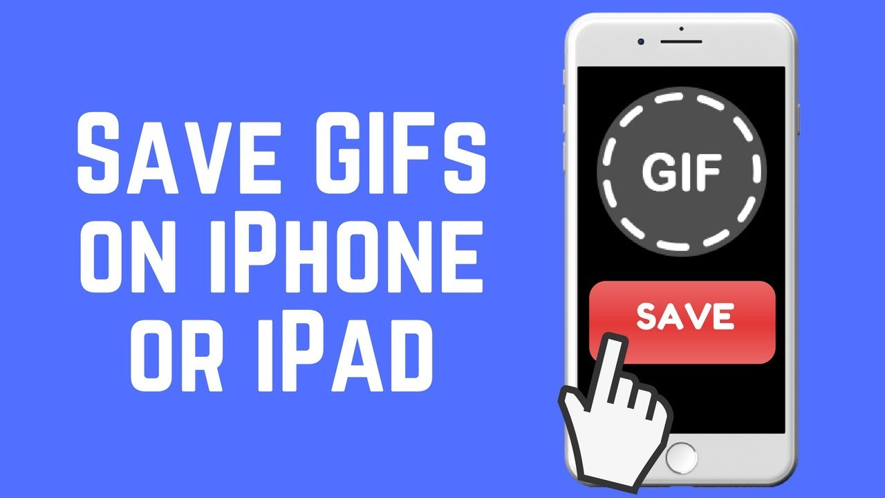 How To Save Gifs To Iphone Or Ipad The Easy Way 2018 Youtube