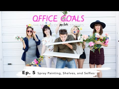 Spray Painting, Shelves, and Selfies | Office Goals | Mr Kate | Episode 5