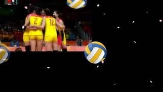 中国女排vs塞尔维亚女排里约奥运决赛 第四局 China vs Serbia Volleyball Rio Olympics Final set-4