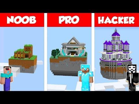 Minecraft NOOB vs PRO vs HACKER: SECRET SKY HOUSE BUILD CHALLENGE in Minecraft / Animation
