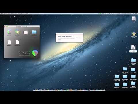 Installing Reaper on a Mac