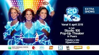 Vier de 20ste verjaardag van K3 in het Studio 100 Pop-Up Theater
