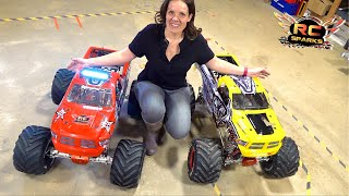 "HIS & HERS ""ToY"" MONSTER TRUCKS - JEM BUILDS a PRIMAL a GAS POWERED PRIMAL RAMINATOR 