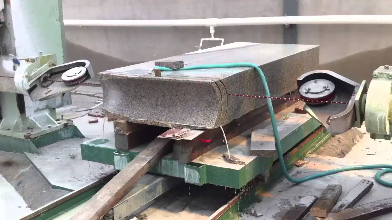 wire saw machine - YouTube