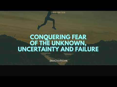 Quote Jewelry - Conquering Fear of the Unknown, Uncertainty and Failure