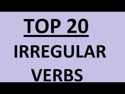 IRREGULAR VERBS IN ENGLISH WITH EXAMPLES - TOP 20. List Of Irregular Verbs In English. Learn English