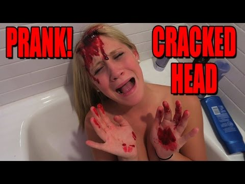 CRACKED OPEN HEAD PRANK! - SCARE PRANK