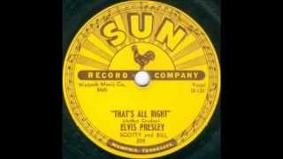 Elvis Presley Scotty and Bill That's All Right  SUN 209