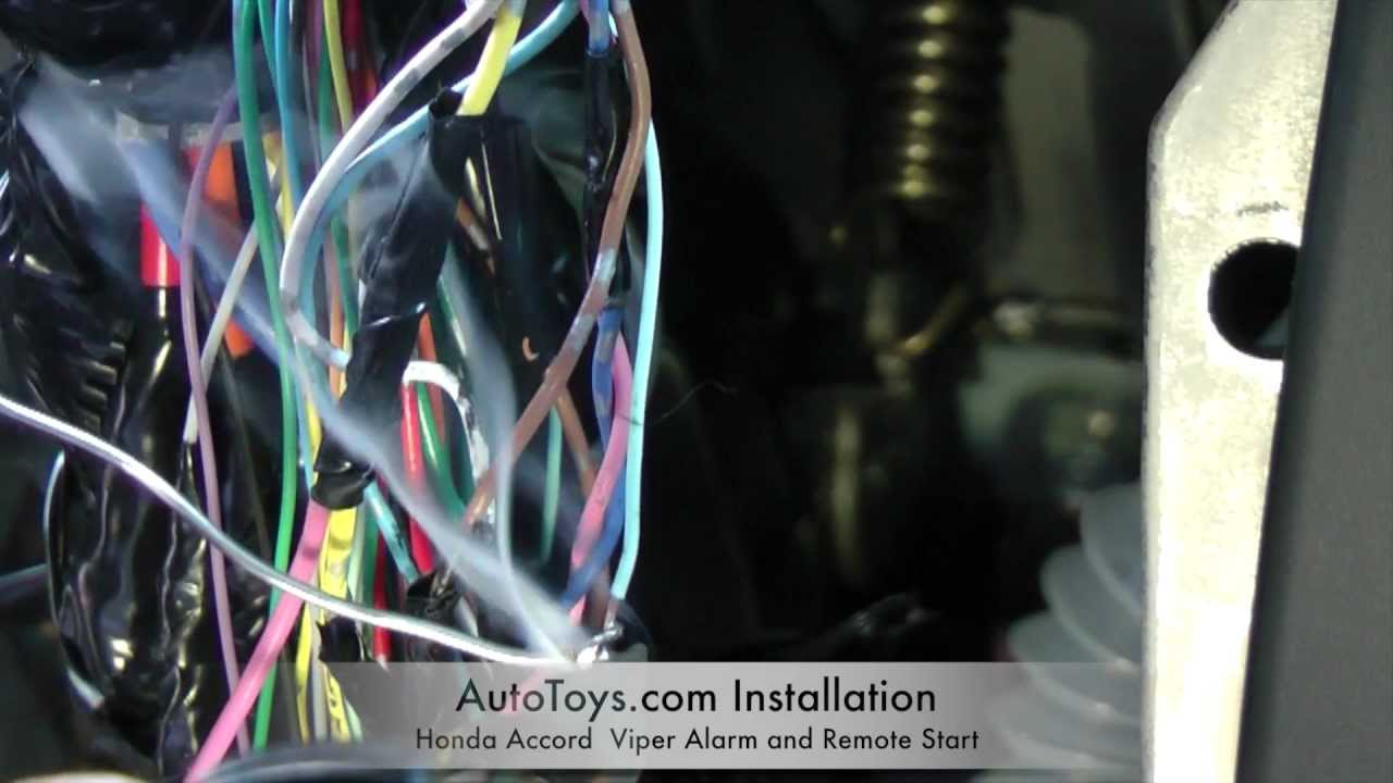 2013 Honda Accord Alarm Wiring Diagram Reinvent Your 2009 Fuse Box Remote Start With Viper 5702 5901 5704 And Rh Youtube Com For