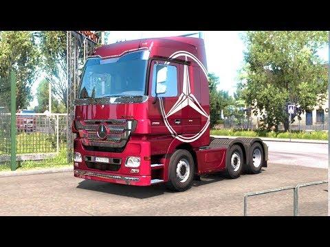 ETS 2 - Mercedes Benz Truck Transporting Glass |
