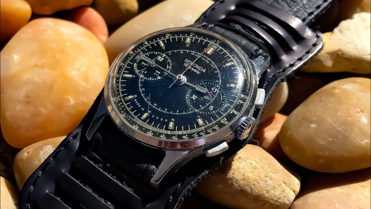 b443e142c056 Unboxing a Vintage USSR Sekonda Chronograph from Bulgaria! Wristwatch  Addiction