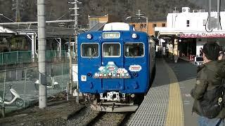 富士急行線5000形(きかんしゃトーマス)ラストラン 大月発車【警笛あり】