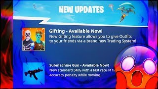 *NEW* TRADING & GIFTING SYSTEM IN FORTNITE! (Gifting Skins,Gliders & Pickaxes!)