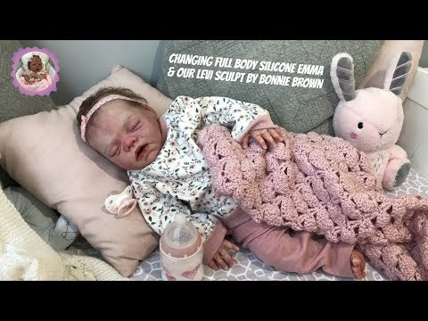 REBORN BABY CHAT WITH LORNA - CHANGING FULL BODY SILICONE BABY EMMA AND OUR BONNIE BROWN LEVI SCULPT