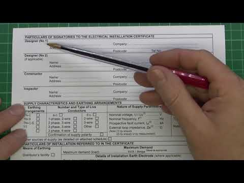 Electrical Certificates Part 2 - Installation Certificate