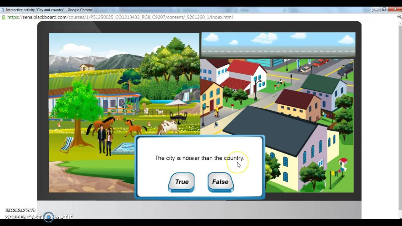 "Nivel 2, Evidence: Interactive activity ""City and country"" - YouTube"