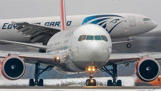 Домодедово, февраль 2019 (+Радиообмен) ▶ Boeing 787/777/767/737, Airbus A350/300B4/319/320/321