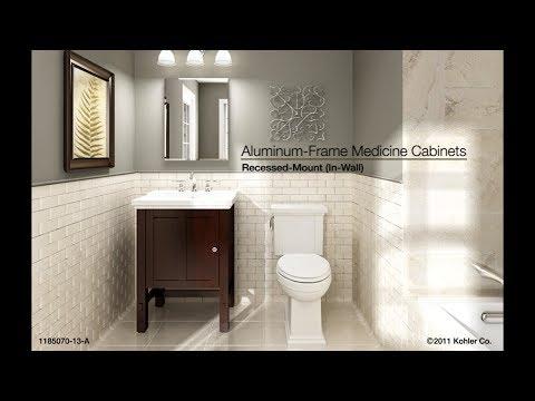 Kohler AluminumFrame Medicine Cabinets  RecessedMount