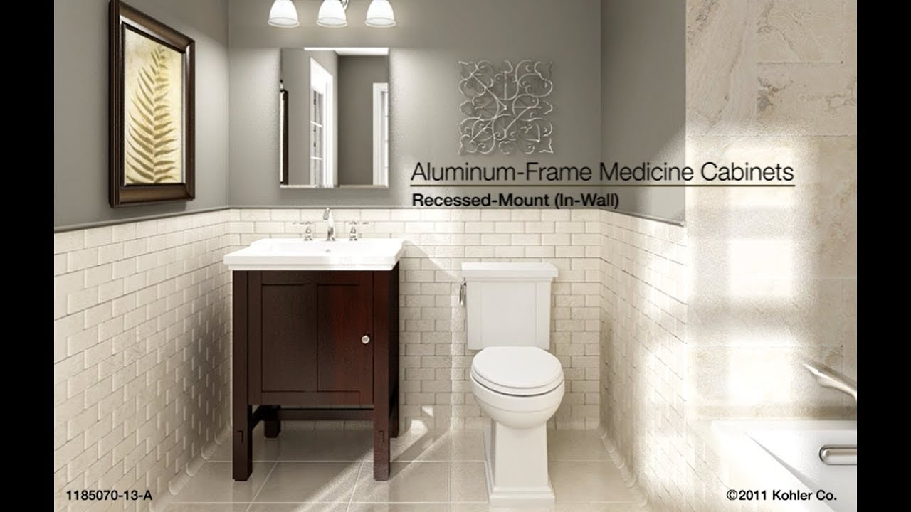 Bathroom Medicine Cabinet Made In Usa kohler aluminum-frame medicine cabinets - recessed-mount