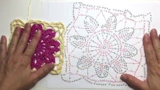How to Read Crochet Chart for Square 5 of Springtime Afghan CAL
