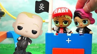 Boss Baby Locks Up All Dogs ! Toys and Dolls Fun with LOL Surprise Babies - Baby Doll Play