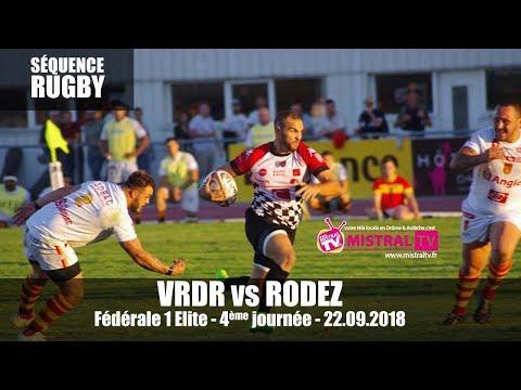 2018.09.22 Séquence Rugby -  Fédérale 1 Elite 4ème journée - VRDR vs RODEZ -