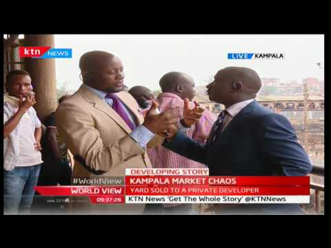 Developing Story: Kampala's Owino market traders clash with police over sale of yard to a developer