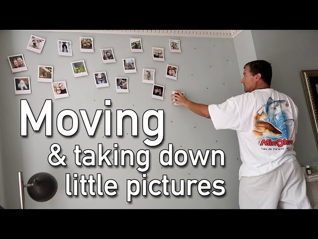 Moving and Taking Down Our Mini Pictures