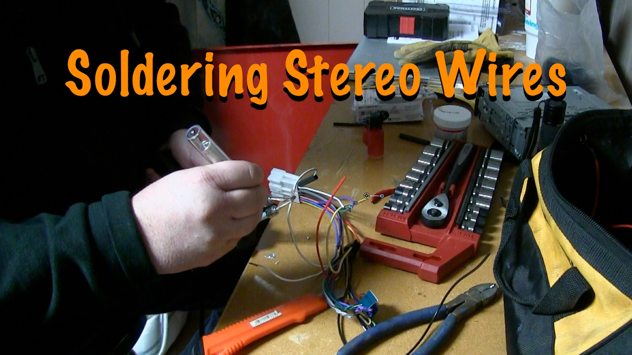 maxresdefault soldering stereo wires together 2004 gmc sierra pick up project how to solder radio wire harness at n-0.co